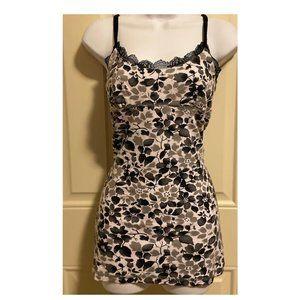 Women's Black & White Floral Print Bra Top